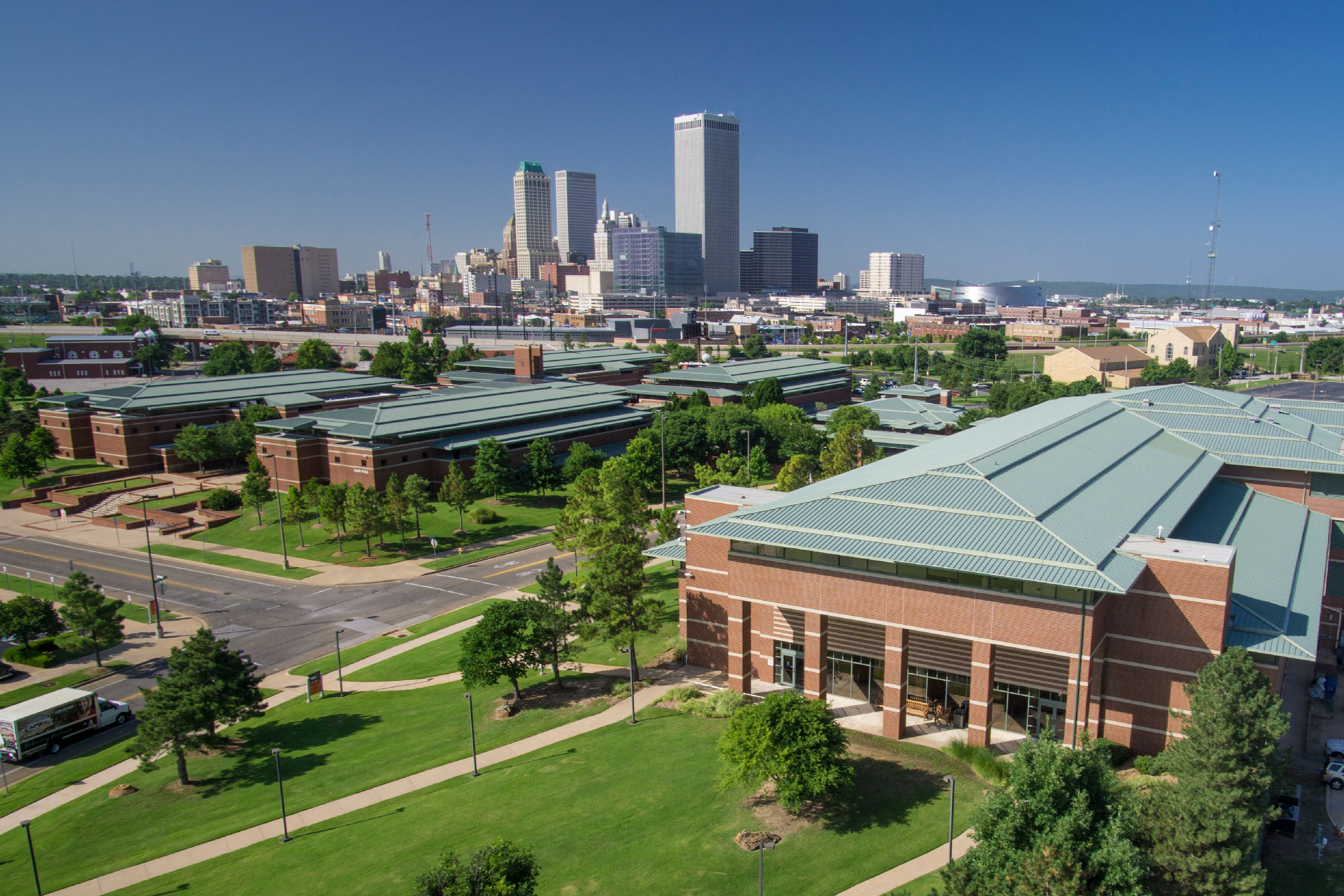 OSU-Tulsa with Tulsa Skyline in background