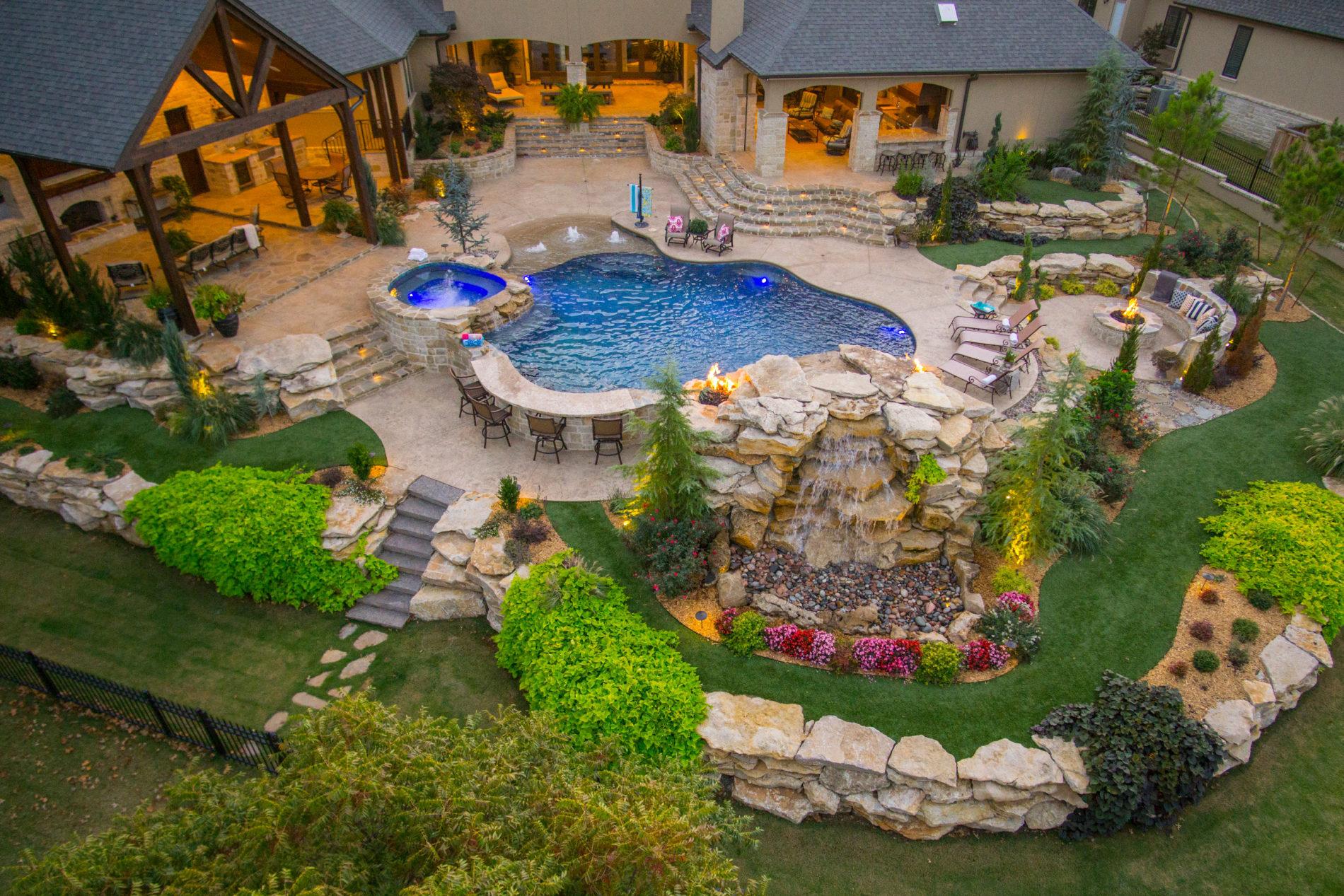 Custom pool Photographed in Tulsa Oklahoma