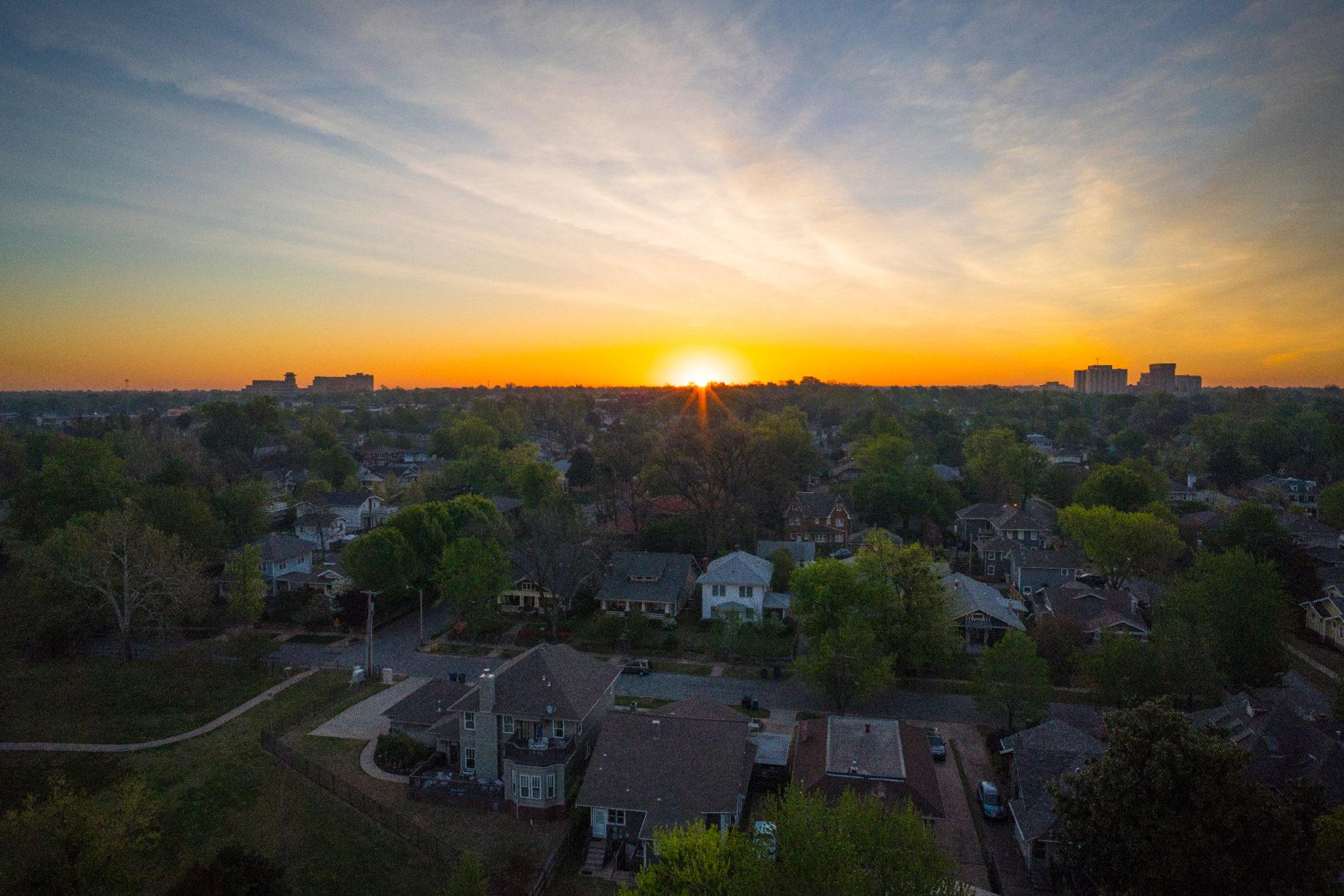 Sunrise in Tulsa Oklahoma