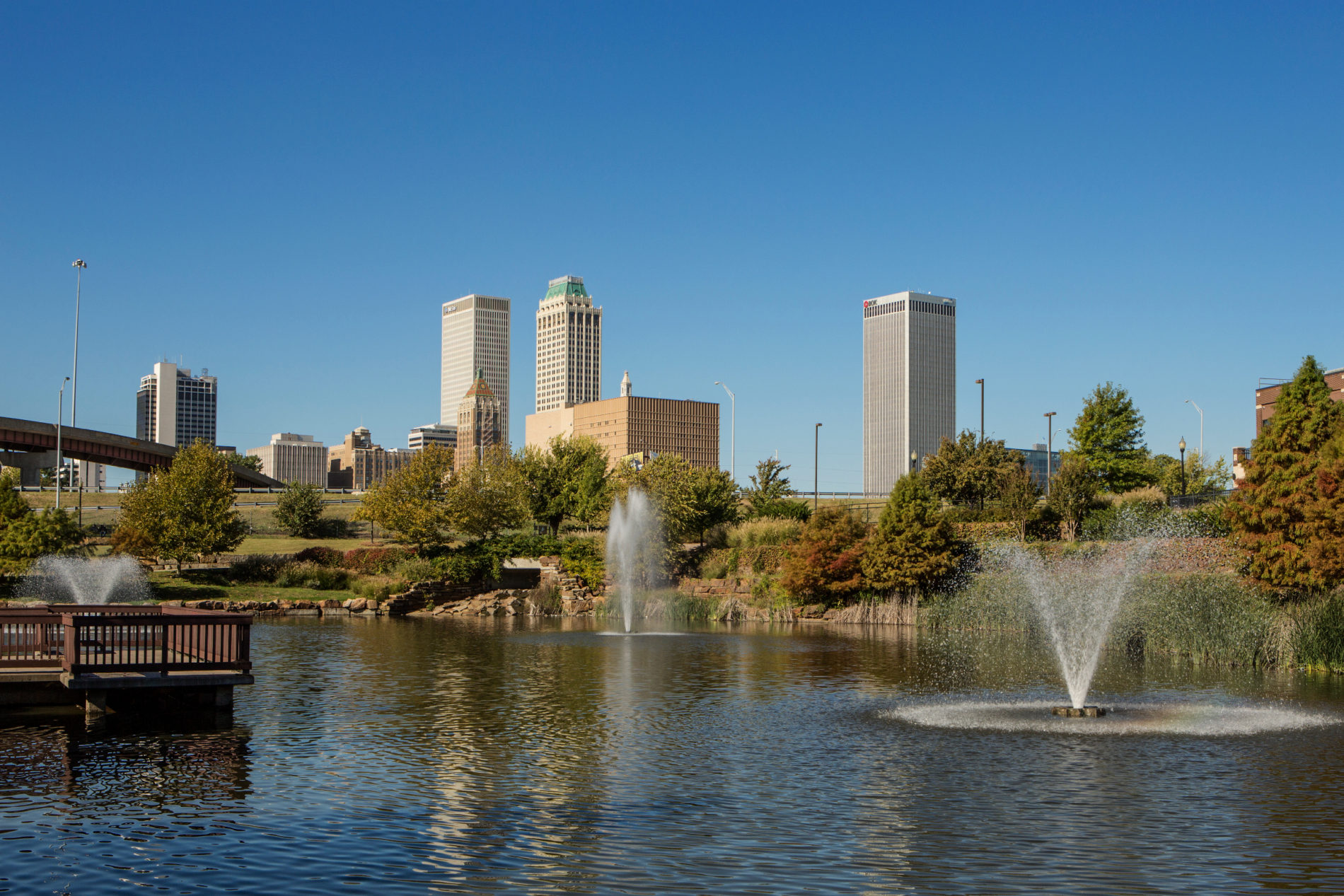 Centennial park pond Tulsa